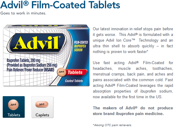 Popular Product Reviews By Amy Advil Film Coated Tablets Review