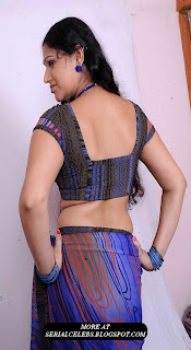 siri aunty in low hip saree