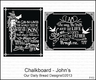 Our Daily Bread Designs Stamps Chalkboard - John's
