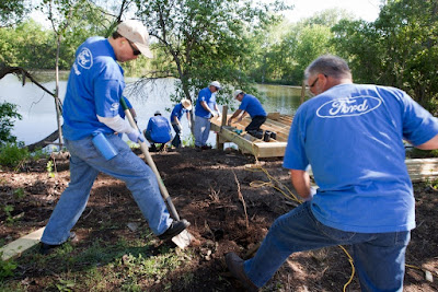 Ford Motor Company Volunteers And Employees Give Back To The Environment For Ford Accelerated Action Day.