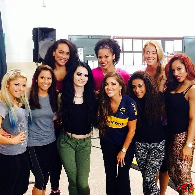 Paige Hanging Out with NXT Talent.