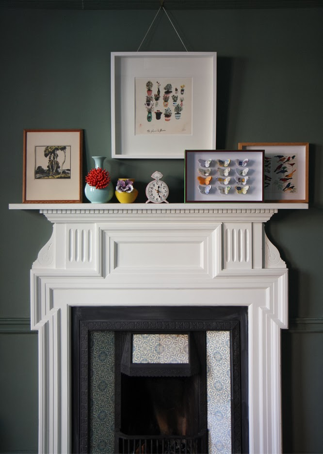 Pictures on our mantlepiece by Alexis at somethingimade.co.uk