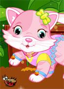 Игривая кошечка - Онлайн игра для девочек