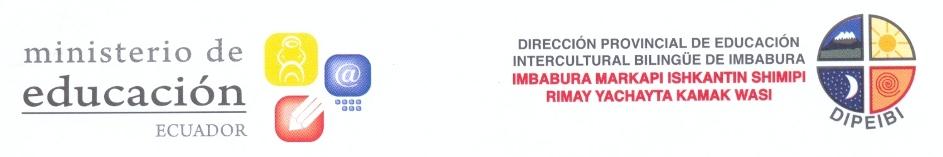 Dirección Provincial de Educación Intercultural Bilingüe de Imbabura (DIPEIBI)