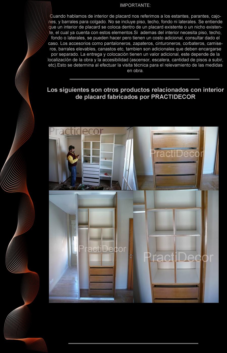 Interiores de placard 2m a vestidores frentes practidecor for Espejo de 1 metro por 2 metros