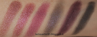 Palette Vintage Romance Sleek: da sinistra a destra A Vow in Venice, Marry in Monte Carlo, Honeymoon in Hollywood, Bliss in Barcellona, Forever in Florence e Love in London.