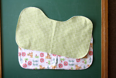 Baby Bib Pattern and Burp Cloth Tutorial — Two More Minutes