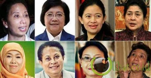 8 menteri perempuan