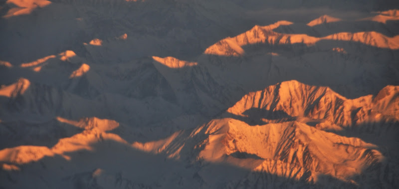 Leh Ladakh Himalayas mountians flight airport winters