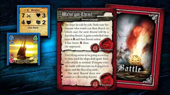 Privateers! Pirate board game cards