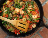 July - Stir-Fried Shrimp with Asparagus
