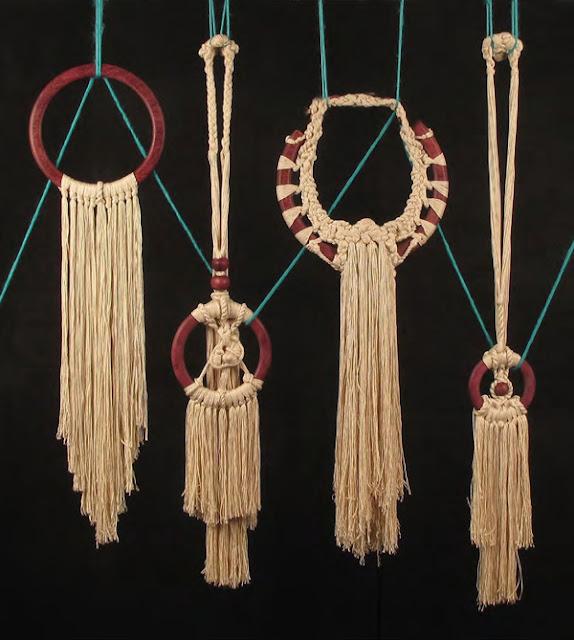 Silk/rosewood neckpieces by Na'ama Rietti