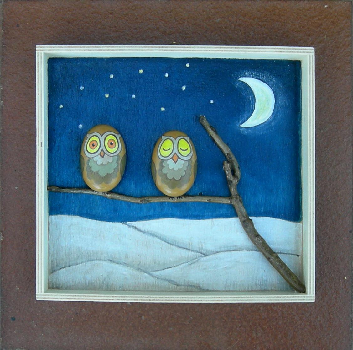Kedibu murales y objetos decorativos cuadrito 2 b hos - Cuadros hechos con piedras ...