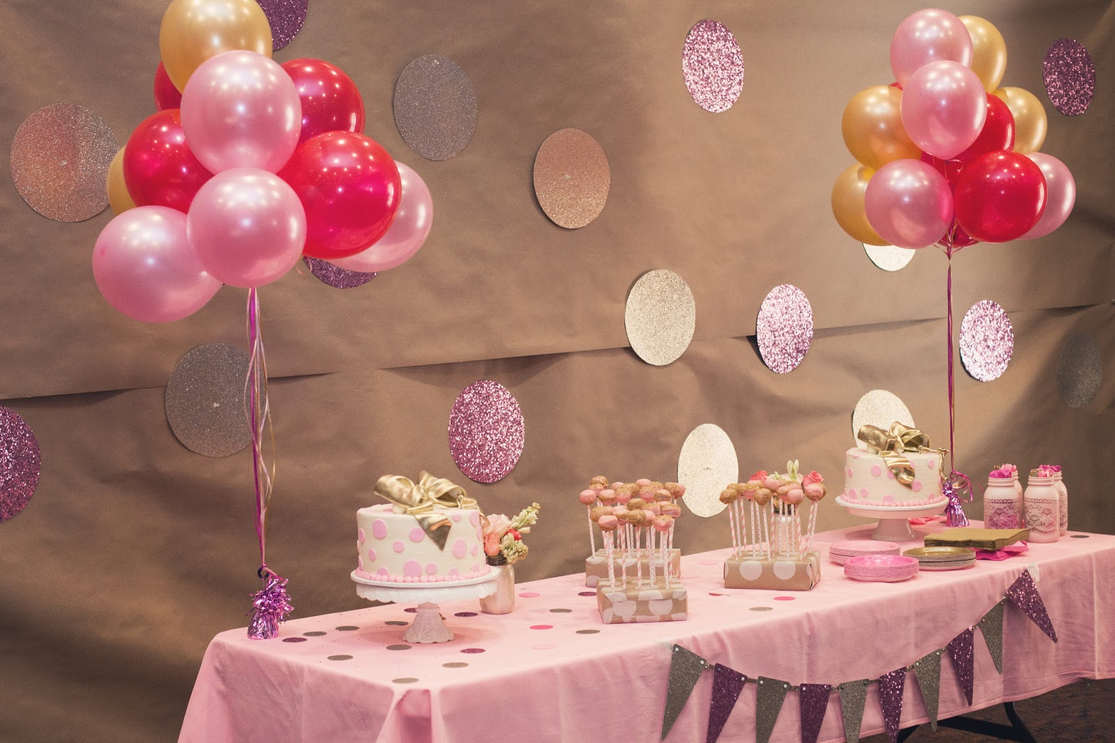 Nat your average girl 1st birthday party decor for 1st birthday decoration themes