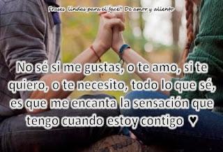 Frases De Amor: No Sé Si Me Gustas O Te Amo Si Te Quiero O Te Necesito
