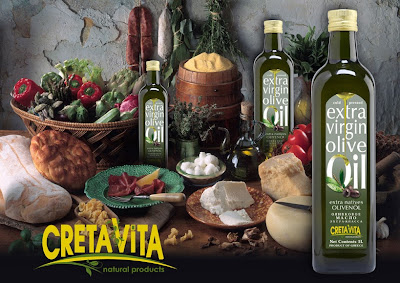 CretaVita  - Extra virgin olive oil first cold pressing. Place of Origin: Crete Island, Greece. Supplier: Aggelidakis.S.A.   Business: Export, Manufacture, Wholesale, Retail.