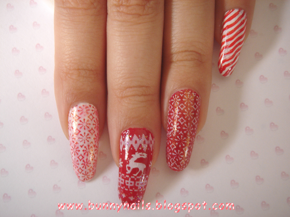 Bunny Nails My Christmas Nails I Know Its Late