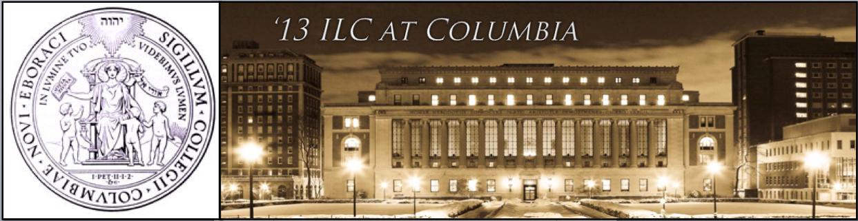 '13 ILC at Columbia
