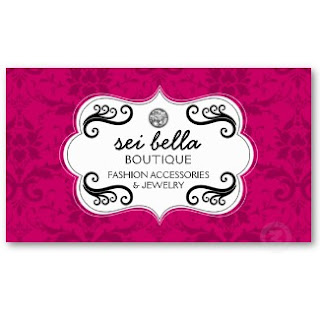 Business card showcase by socialite designs fashion and accessories our fashion and accessories business card is truly elegant the design has a damask background with jewel and swirls elements reheart Gallery