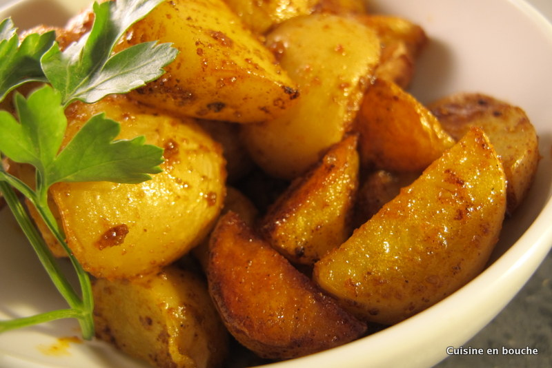 Pommes de terre au four aux pices le blog de cuisine en - Pomme de terre rissolees maison ...