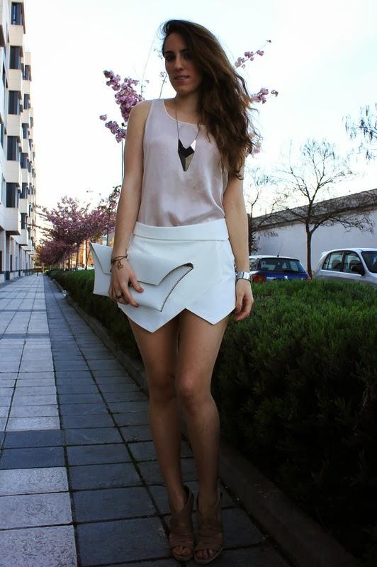 Origami skirt, falda origami, falda papiro.