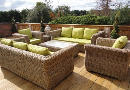 Patio furniture rattan patio furniture for Bamboo furniture uk