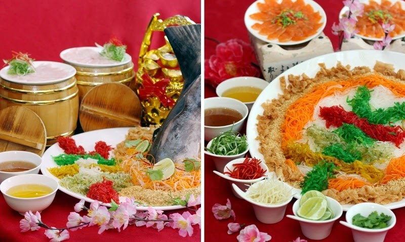 Signature Yee Sang, Netherland Artic Char Fish, New Zealand Swordfish, Food Review, CNY2015 Menu, Celestial Court, Sheraton Imperial Kuala Lumpur, Chinese New Year Dish, Chinese Food, Lou Sang, Yee Sang