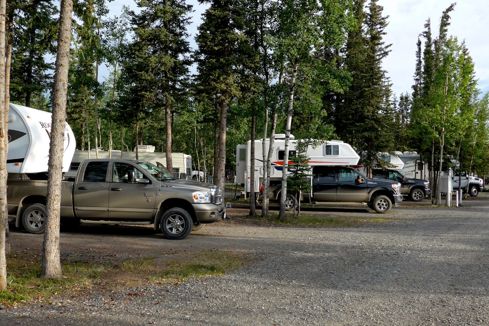 campground with our three units