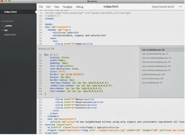 Adobe Brackets - Code Editor for the Web with Live Preview and Quick Edit