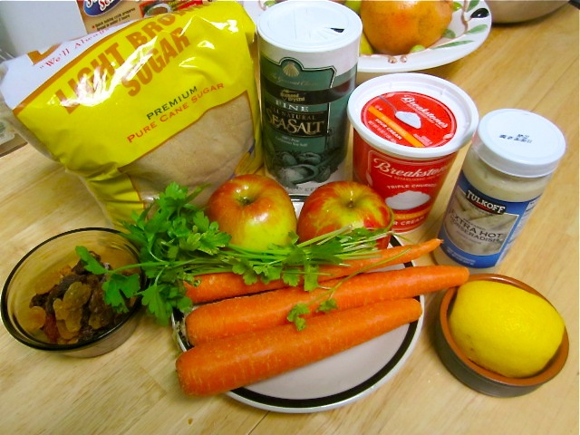 Салат из моркови с яблоками и хреном