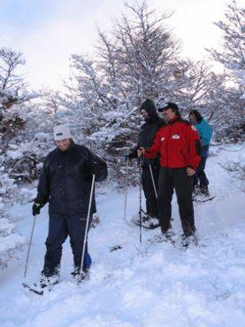 Caminhada na neve em Esquel - AR