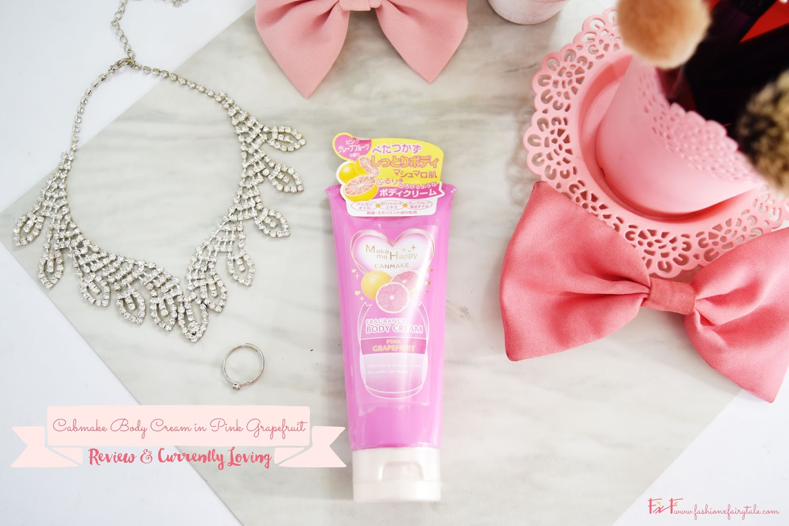 Canmake Body Cream in Pink Grapefruit | Review & Currently Loving