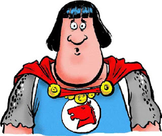 Tank Mcnamara as Prince Valiant which replaced the strip in The Houston Chronicle.