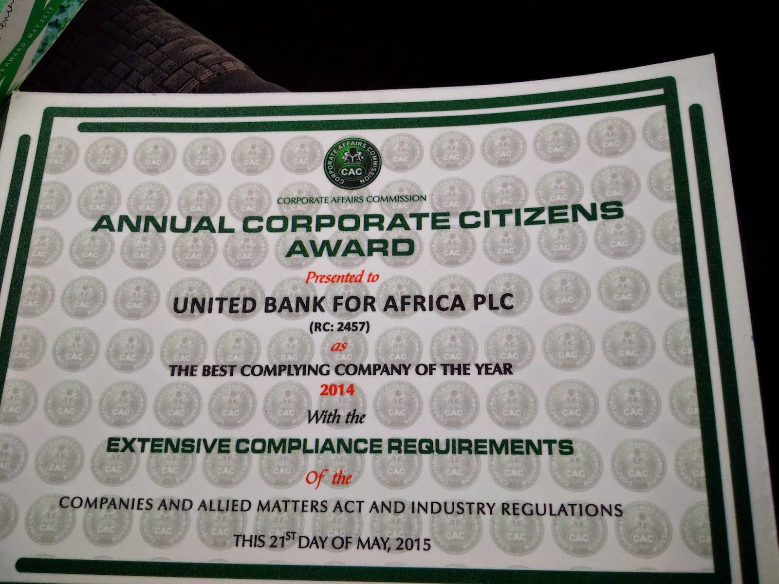 the lion king blog edition uba wins corporate citizens award