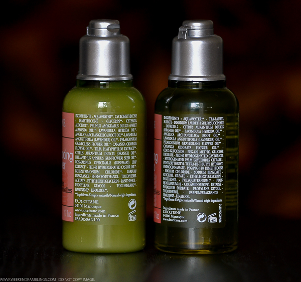LOccitane Aromachologie Haircare - Shampoo Conditioner - Ingredients
