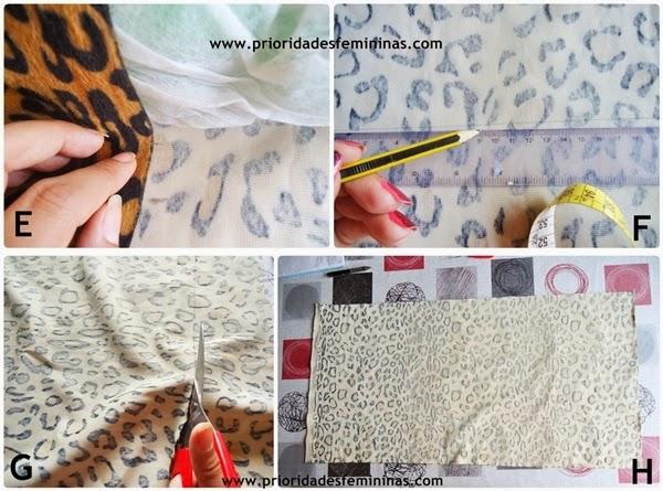 como criar fronha travesseiro animal print