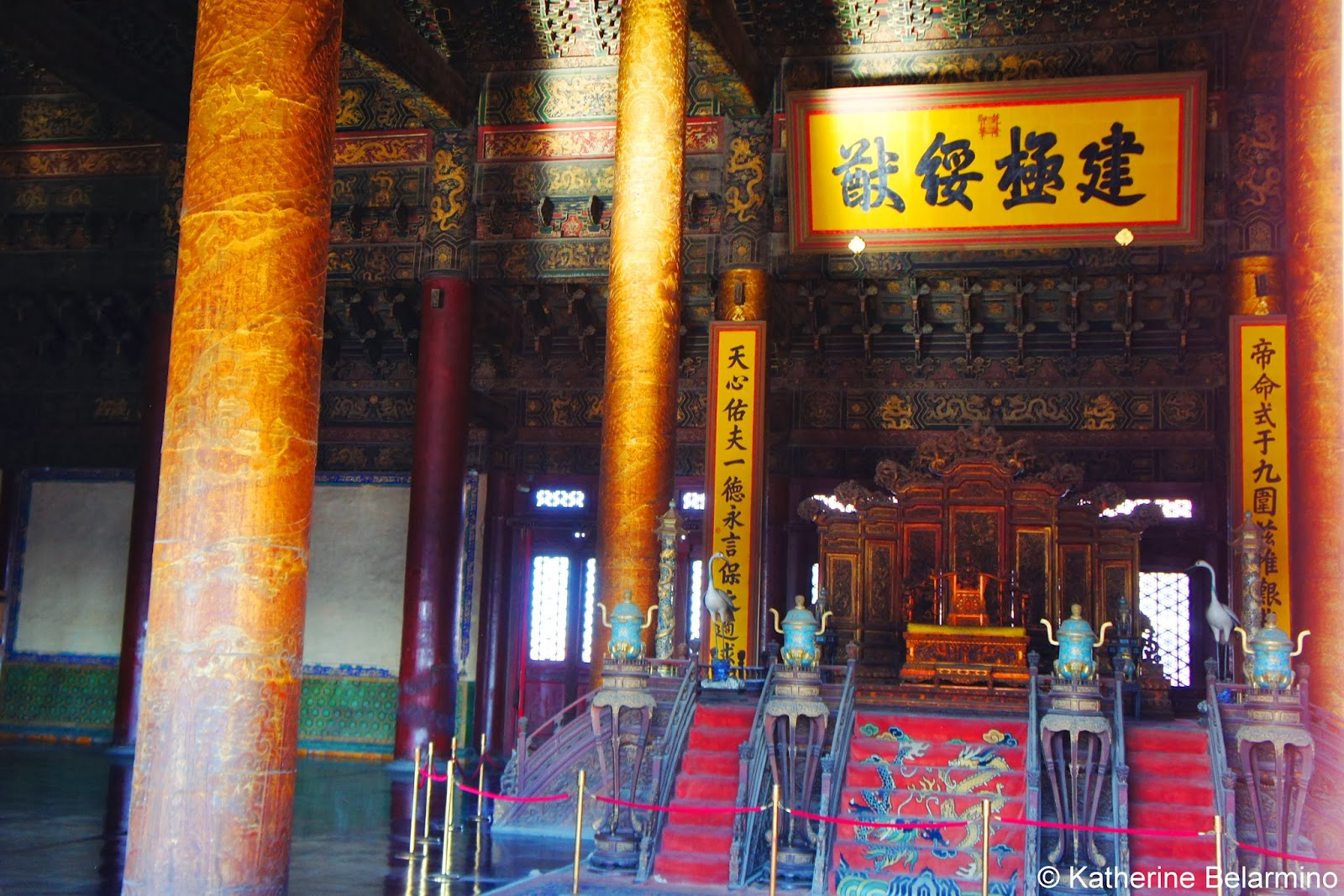 Hall of Supreme Harmony Interior Forbidden City Beijing China