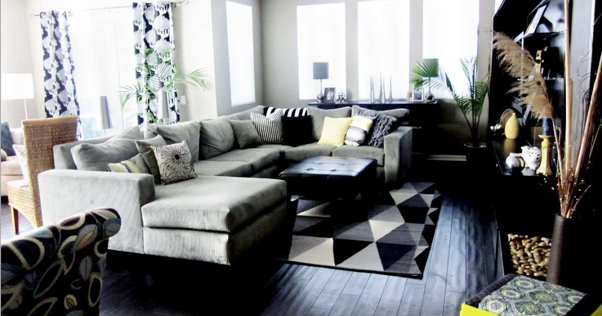 Cole Barnett Neutral Black And White Living Room With Pops Of Color By Cole Barnett Interiors