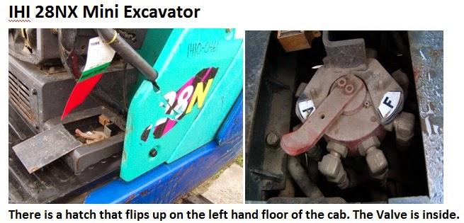 IHI 28NX Excavator Controls Change