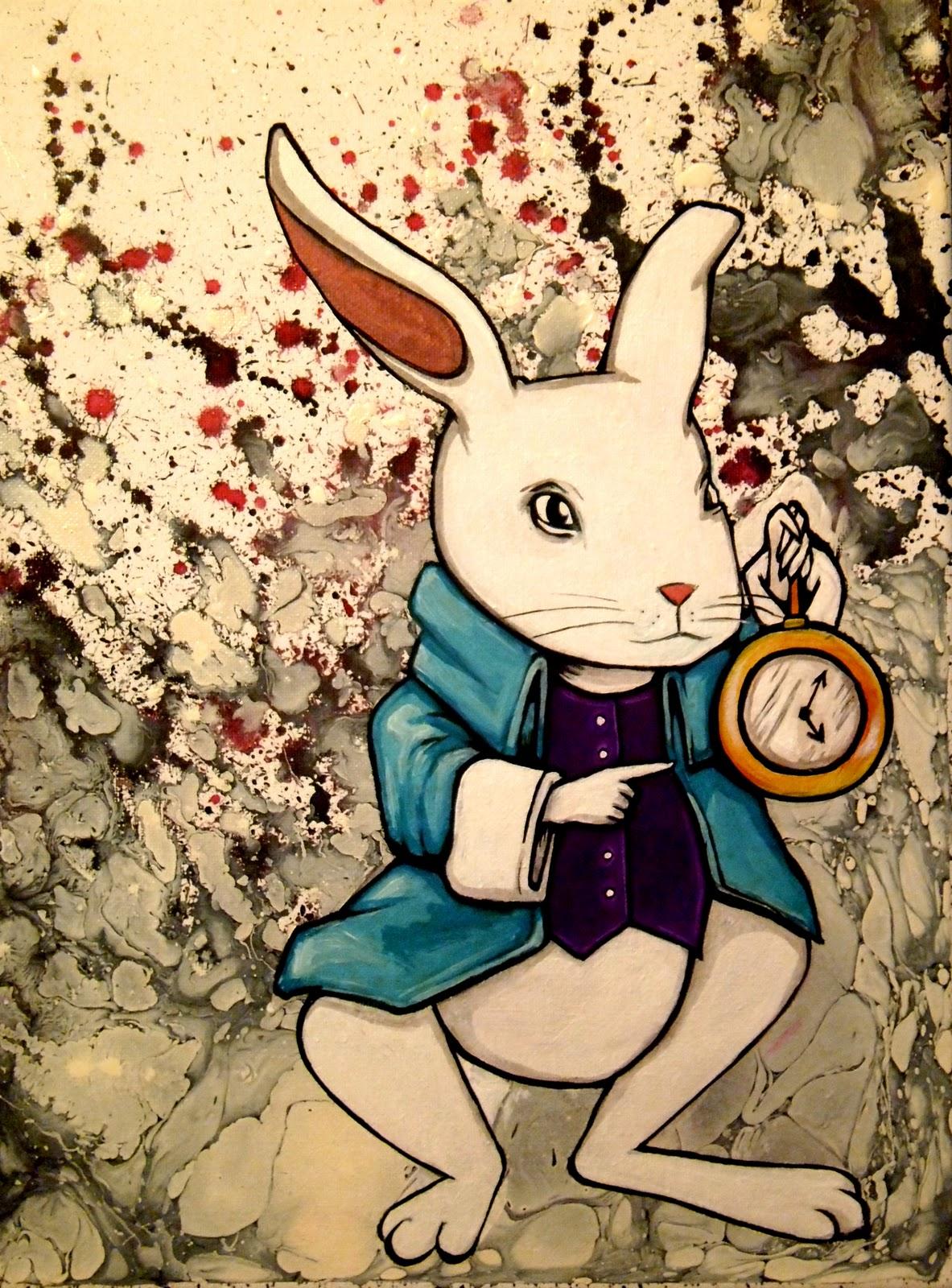 White rabbit painting - photo#19