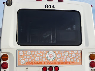 Ball Plumbing Bus Ads