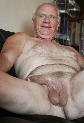 Grey hair naked men