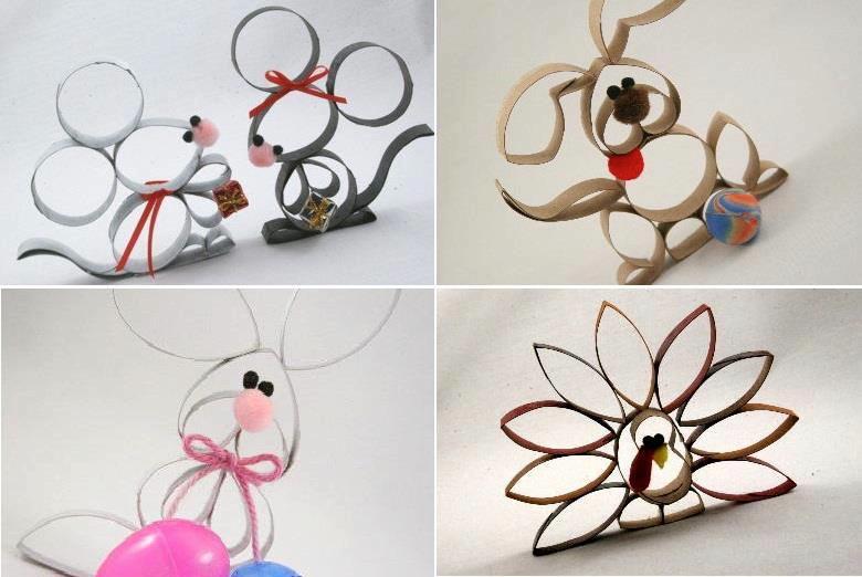 Set De Baño Reciclado:Brinquedos, caixas de papelão e casquinhas de sorvete podem se