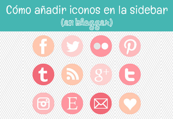 tutorial iconos redes sociales sidebar blogger twitter facebook