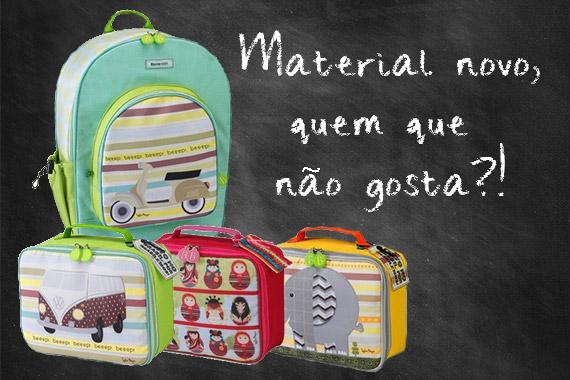 Aula - Escola - Material escolar - App - Mochila