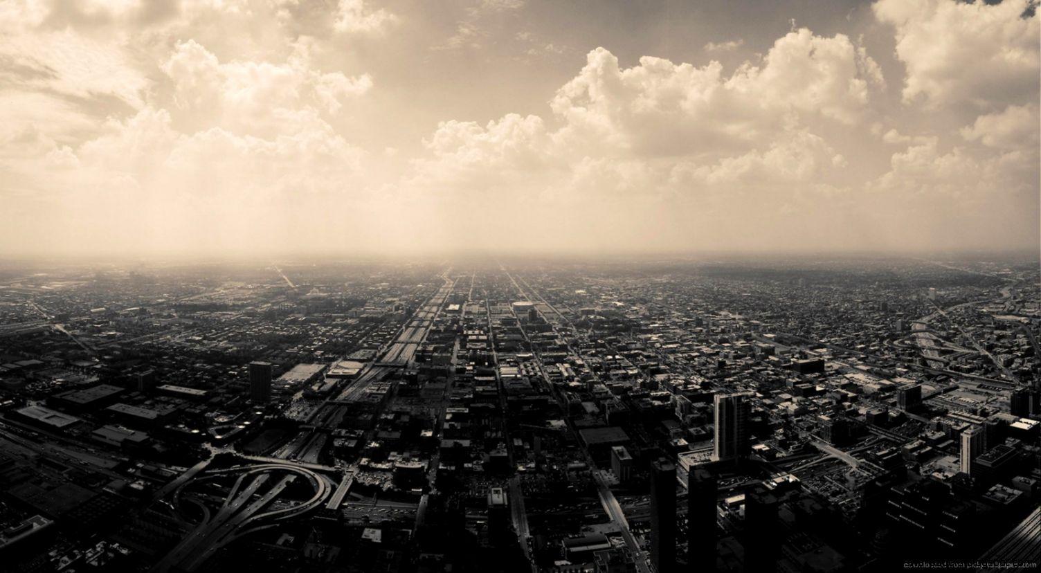 Download 1600x900 Sepia Cityscape Wallpaper