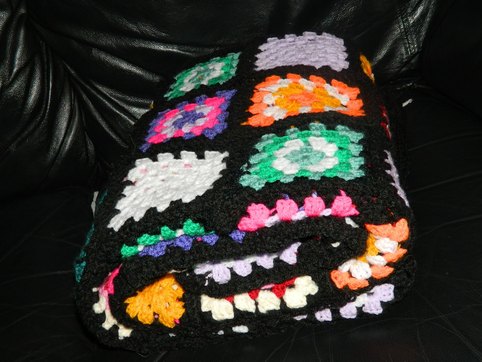 crochet, afgan throw, granny square, colour pop,