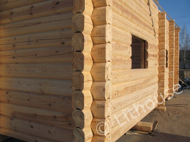 Building Eco Wooden House Scandinavian Style Log Houses