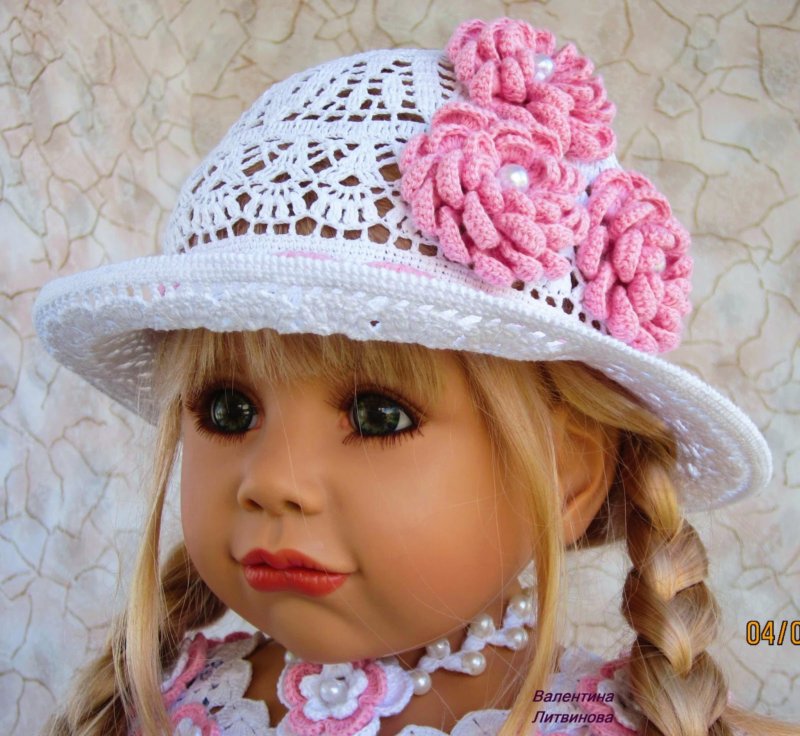 Вязание головные уборы для девочек 87