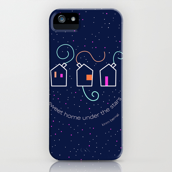 "Carcasa Iphone Galaxy Kinm Bernal ""Sweet home under the stars"""